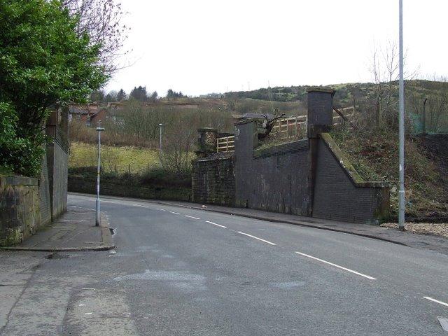 Dismantled railway bridge