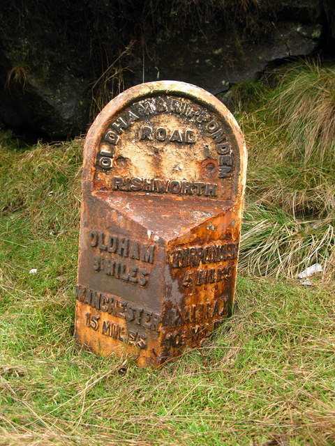 Rishworth Milepost