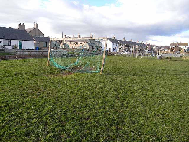 Football pitch at Craster