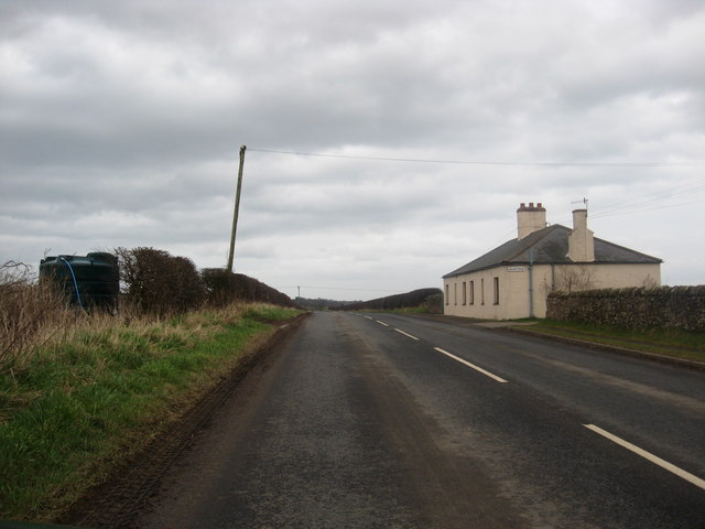 Cottages at the side of the B6461