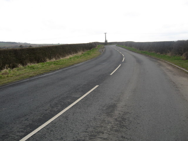 Looking back on the B6461 near Berwick
