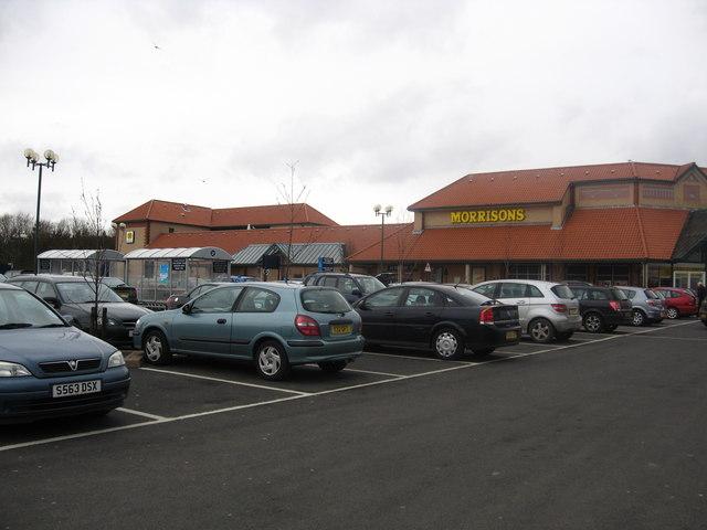 Car park at Morrisons in Berwick