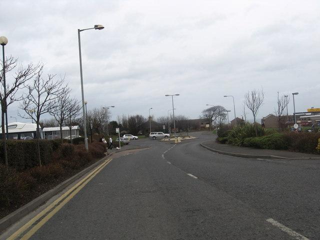 Leaving Morrison's superstore in Berwick
