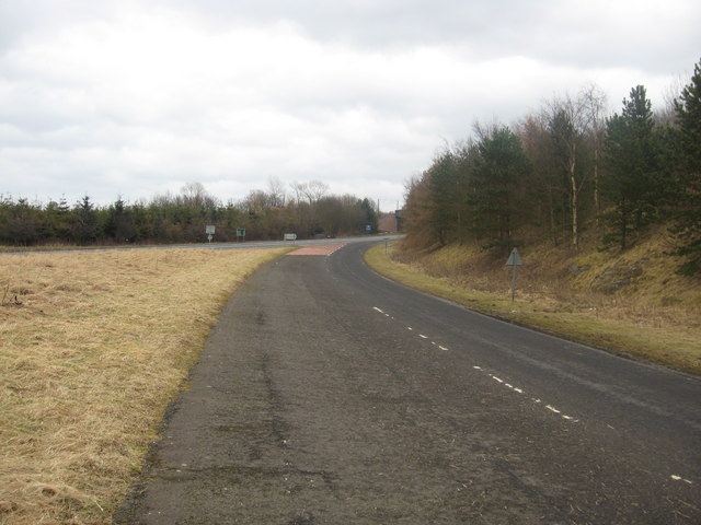 Looking back to the A1 road