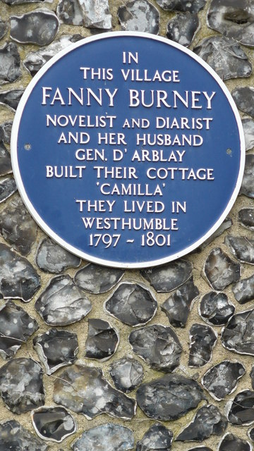 Blue Plaque at the Entrance to Camilla Drive