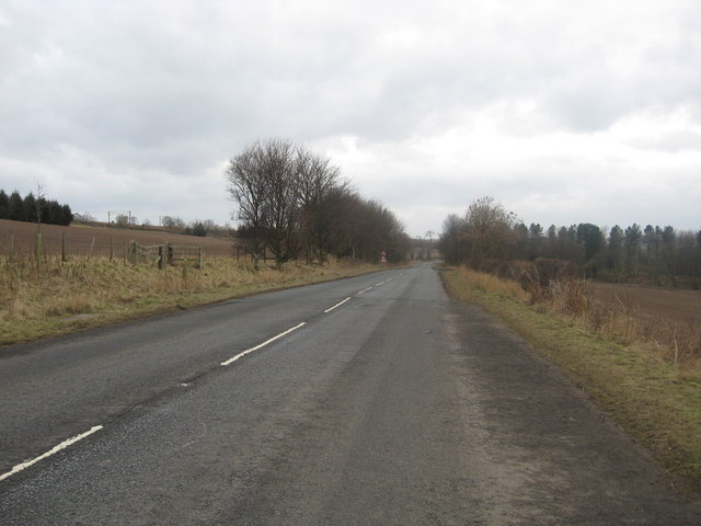 Country road in Berwickshire