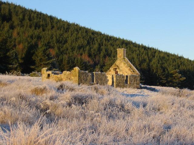 Derelict cottage at Ballieward