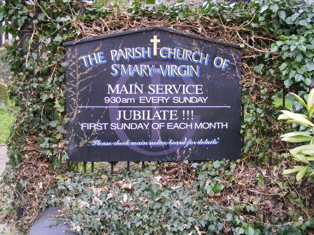 St.Mary the Virgin Church Sign, Halesworth