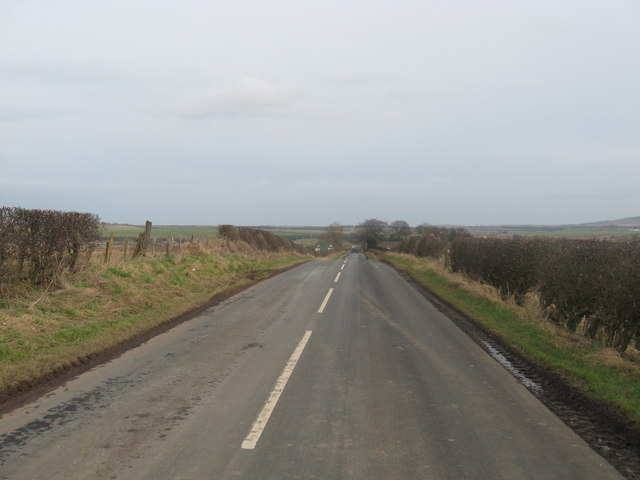 Road leading to Reston in the Scottish Borders