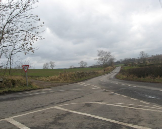Junction near Auchencrow