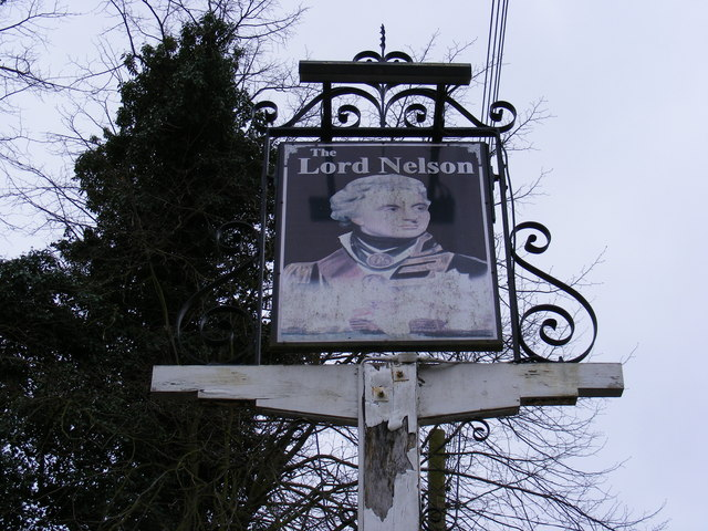 The Lord Nelson Public House Sign