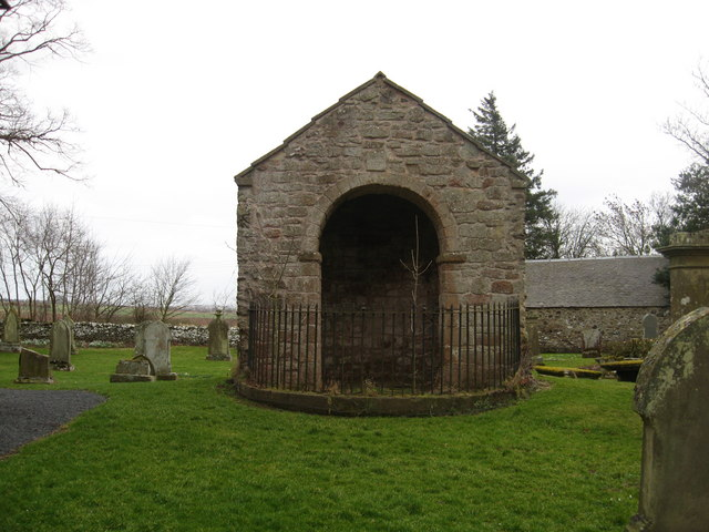 Remains of the old church at Bunkle