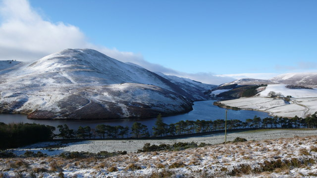 Turnhouse Hill and Glencorse Reservoir