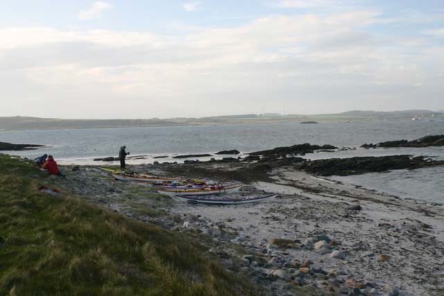 Sea kayak camp on the northern tip of Cara