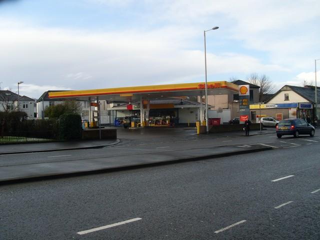 Shell station, Cardonald