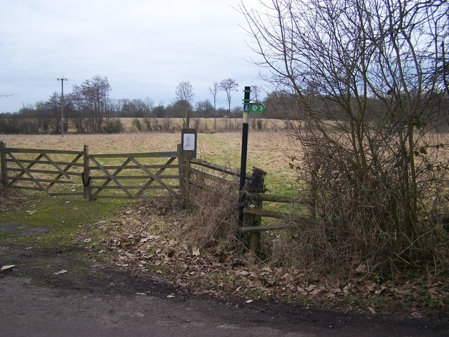 Footpath to Kiln Wood Nature Reserve