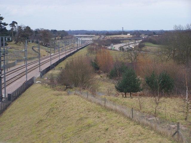 CTRL and M20 Motorway leading to Ashford