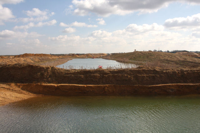 Sand and gravel quarries at Block Fen