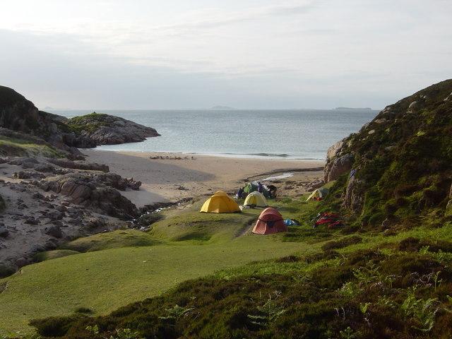 Camping at Tràigh na Margaidh