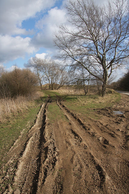 Muddy track at Block Fen