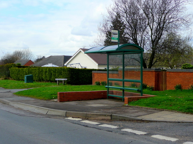 Bus shelter at Hildersley