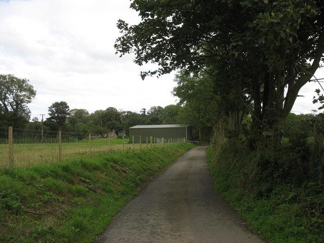 Minor road west of Erddreiniog Farm