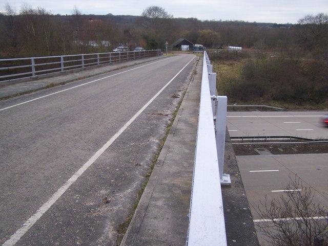 Runham Lane road bridge over M20 Motorway