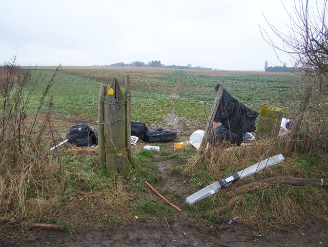 Flytipped rubbish on Blind Mary's Lane