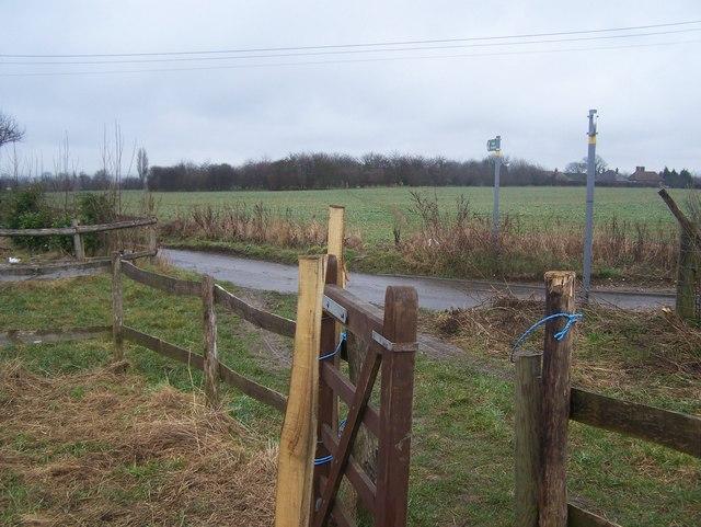 Footpath crosses Blind Mary's Lane
