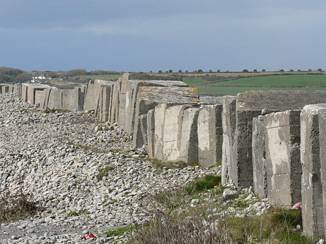 Defensive blocks at Limpert Bay, Gileston.