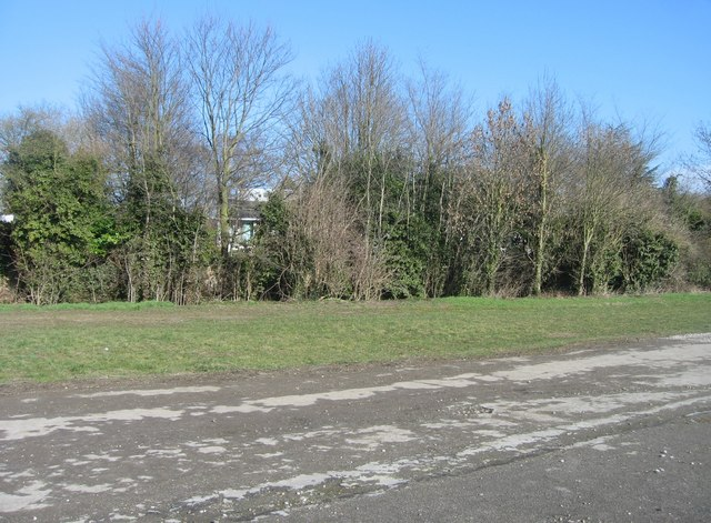 Paved area behind the university rugby ground