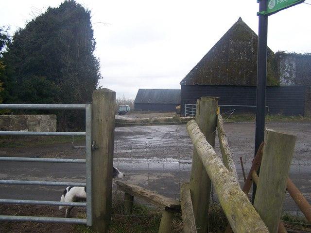 Footpath crosses Chegworth Road