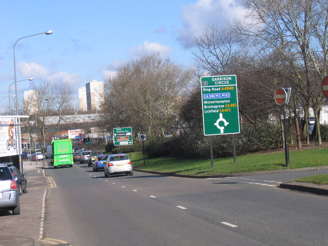 Garrison Circus, A4540 Watery Lane, Birmingham