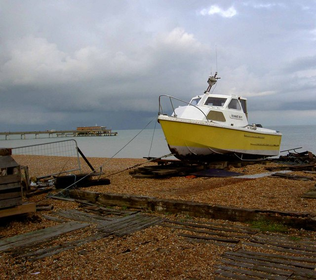 Beached boat Deal sea front