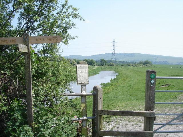 River Adur - view towards Truleigh Hill