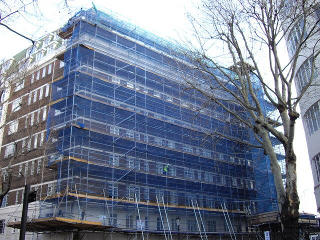 Scaffolding Nell Gwynn House, Chelsea