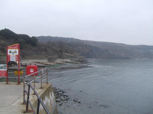 Cliffs east of Lyme Regis