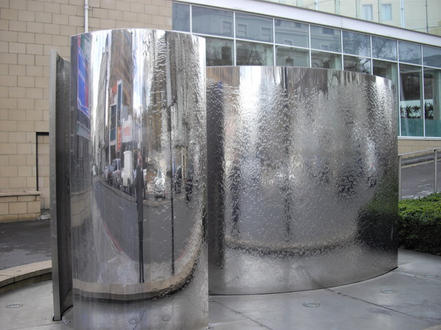 Water Feature outside Marriott Hotel