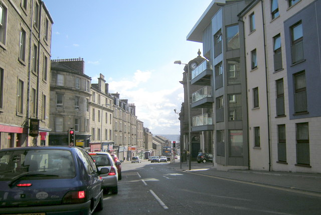 Albert Street, Dundee, at its junction with Princes Street,  Arbroath Road and Victoria Street