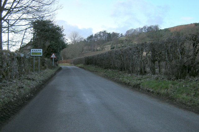 Entering Knapp Village from the east