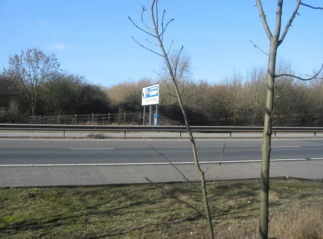 The M11 & a Park & Ride Sign