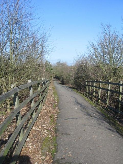 Ramp for the footbridge