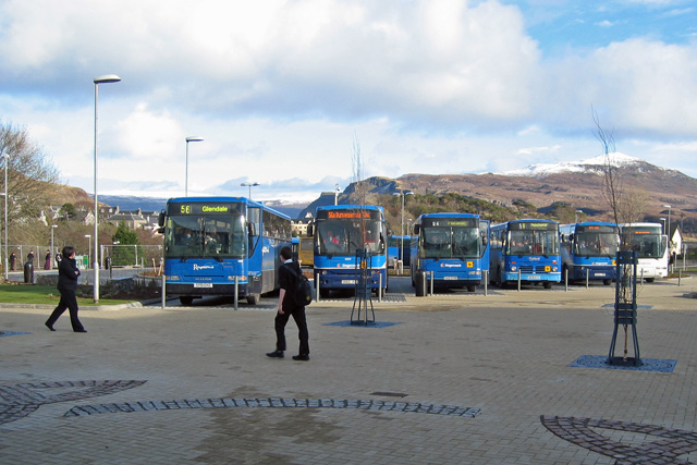 School buses at Portree High School
