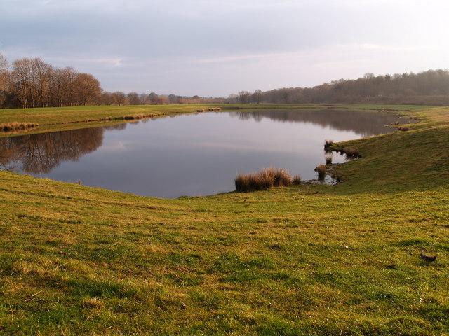 Pond reclaimed from former Gravel works