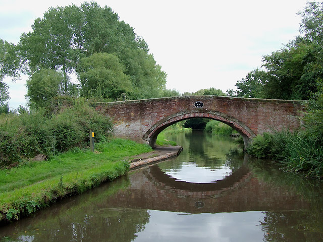 Lodgefield Bridge, Staffordshire and Worcestershire Canal east of Stafford