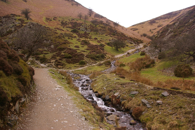 Junction of Carding Mill Valley and Light Spout Hollow