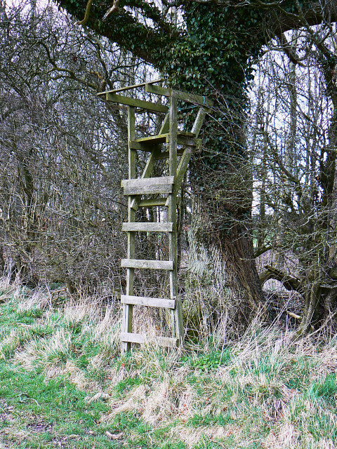 Viewing platform on a bridleway, south-east of Clevancy