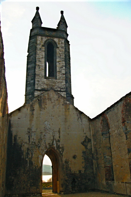 Dunlewy - SW view from within derelict church