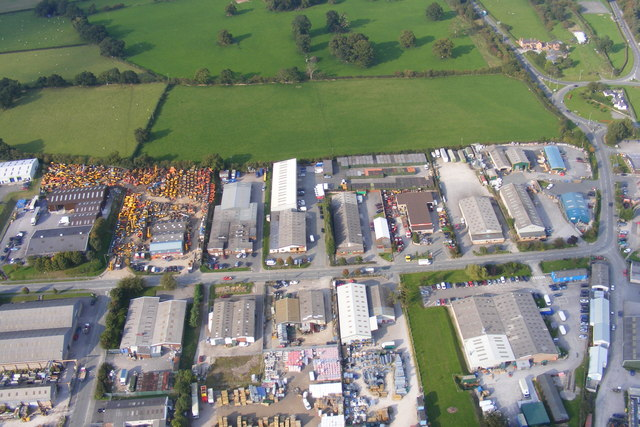 Colomendy Industrial Estate from the air