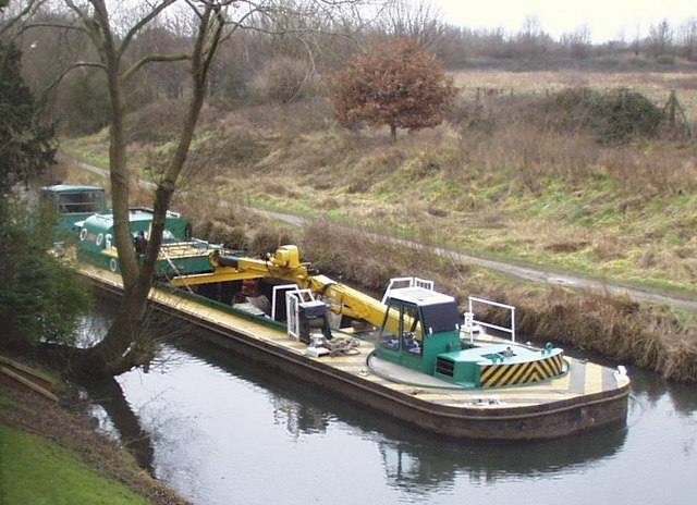 Barge on the Grand Union Canal